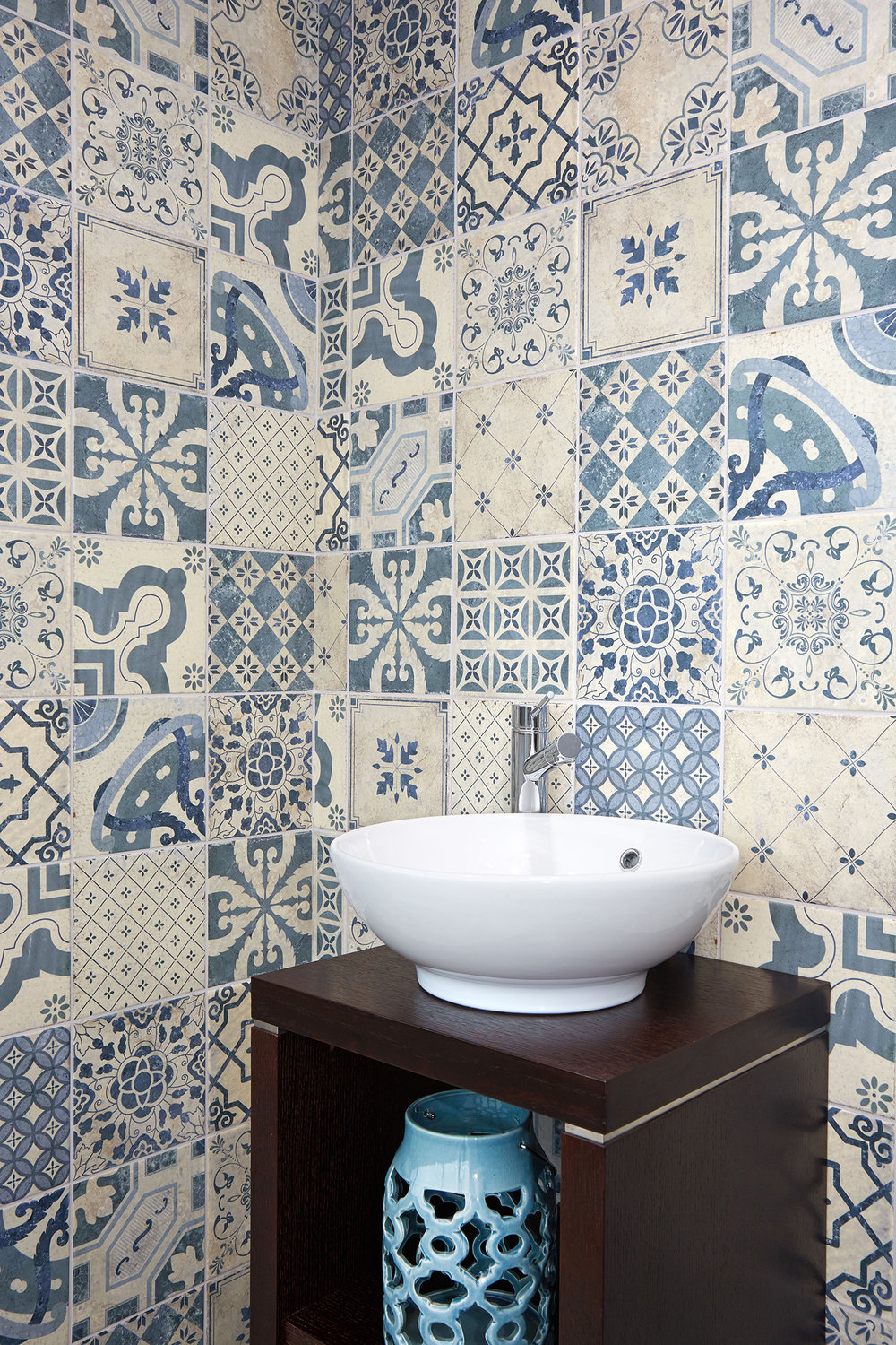 Contemporary Blue Marrakesh Ceramic Tiles