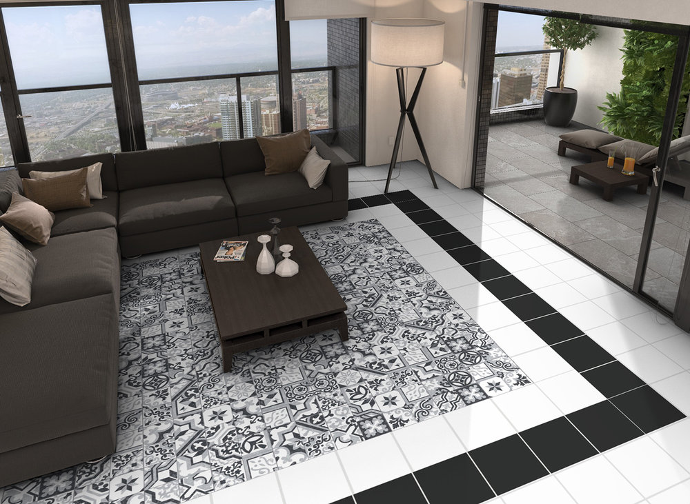 Borne Patterned Porcelain Tiles