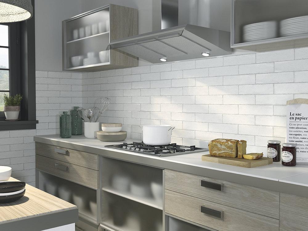 Calpe White Ceramic Wall Tiles