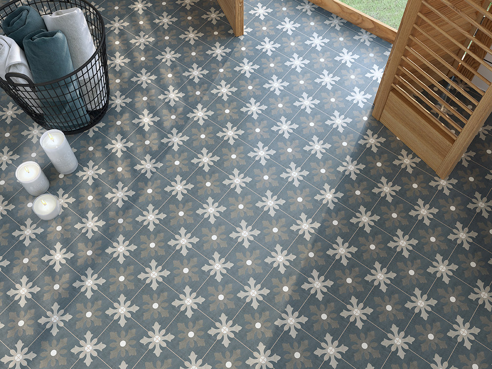 Fiorella Dania Matt Patterned Porcelain Tiles