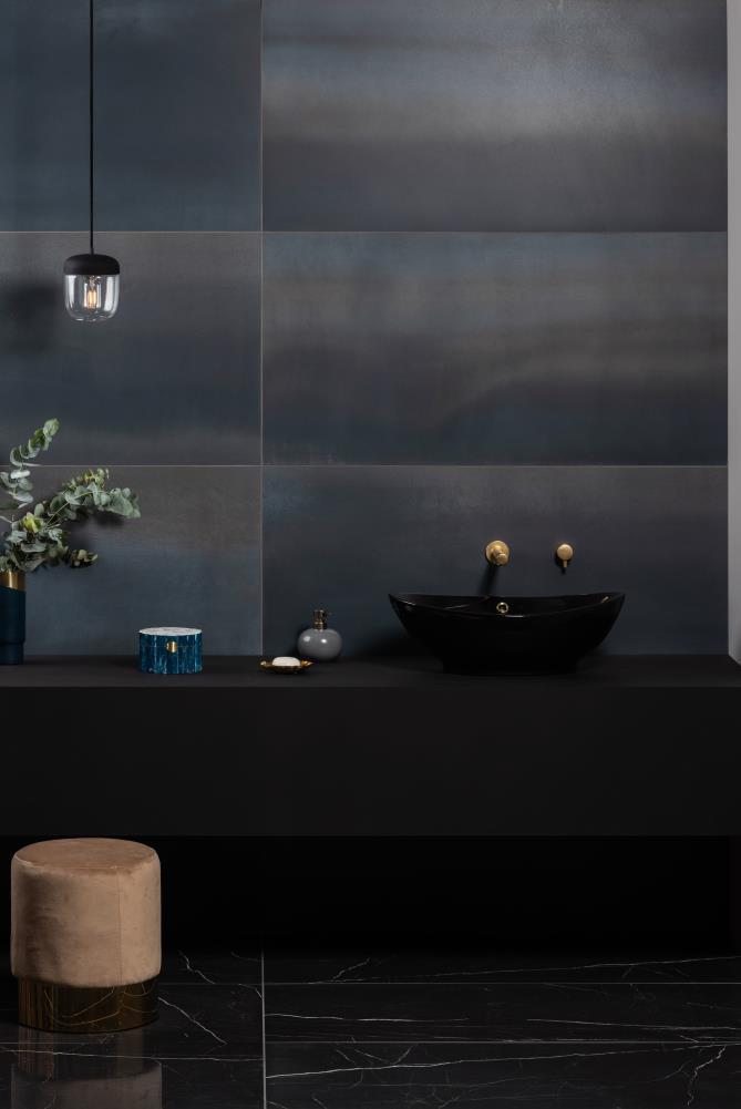 Tileworks Steel Midnight Blue Wall Tiles