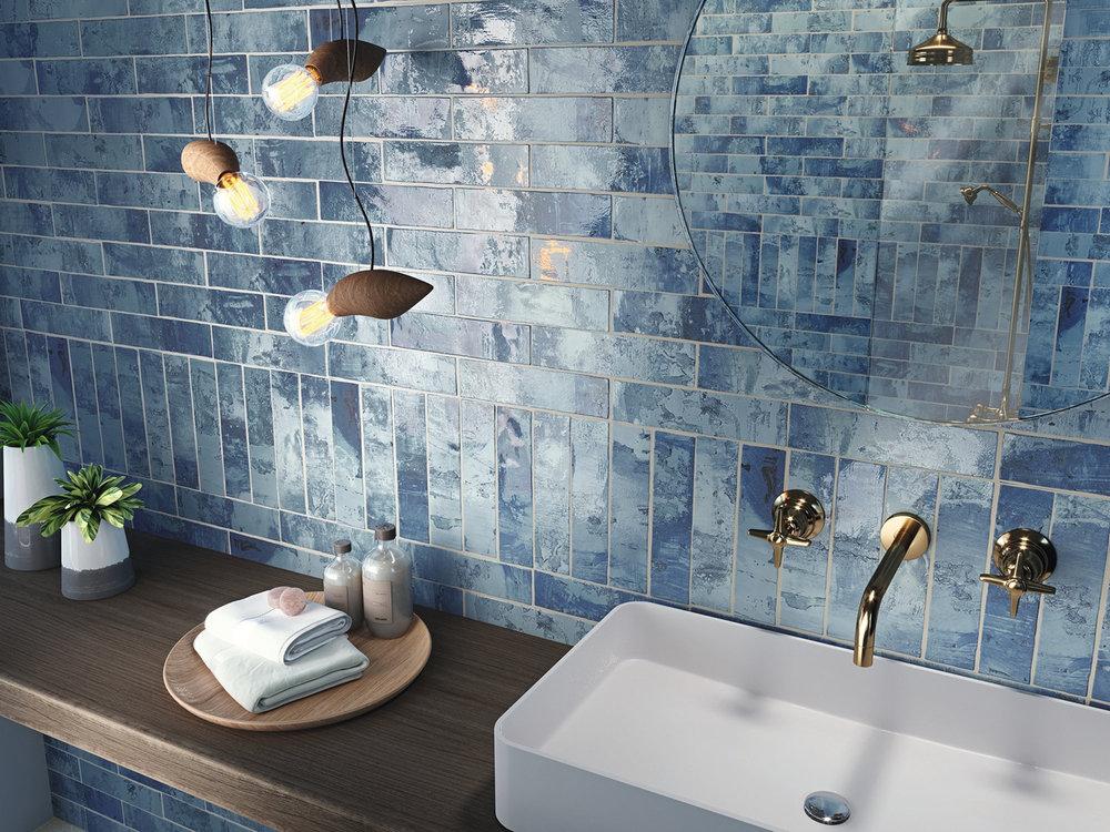 Snap Blue Wall Tiles