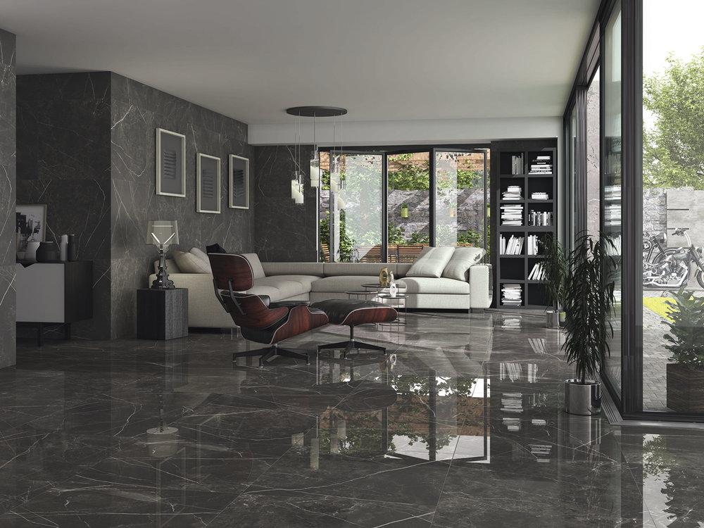 Black Jack Porcelain Floor Tiles