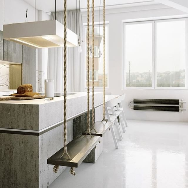 Add a little shabby chic to your kitchen with these non-traditional swings as chairs. * * * #upscaleinteriors #upscaleinteriorsAG #designthelifeyoulove #dekor #innenarchitektur #germaninteriorbloggers #zuhause #dekoration #inneneinrichtung #architekturbüro #interiør #interiör #interiordesigner #interiorstyle #interiorinspo #interiorandhome #interior4all #homestyling #interiorforinspo #passion4interior #interiorlove #interior123 #interiorlovers #interiorforyou #interiorideas #instahome #interiordesignideas #passionforinterior #dreaminterior #interiorgoals | via @99chairs