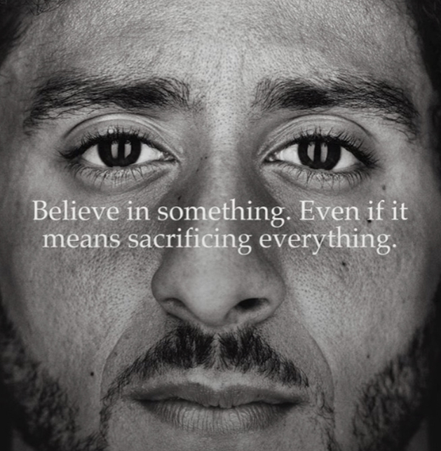Kaerpernick's actions translated into a strong, emotional campaign from Nike