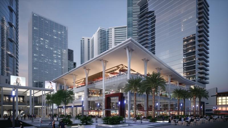 The Miami Worldcenter rendition. Courtesy of Aaron Gordon, Schwartz Media.