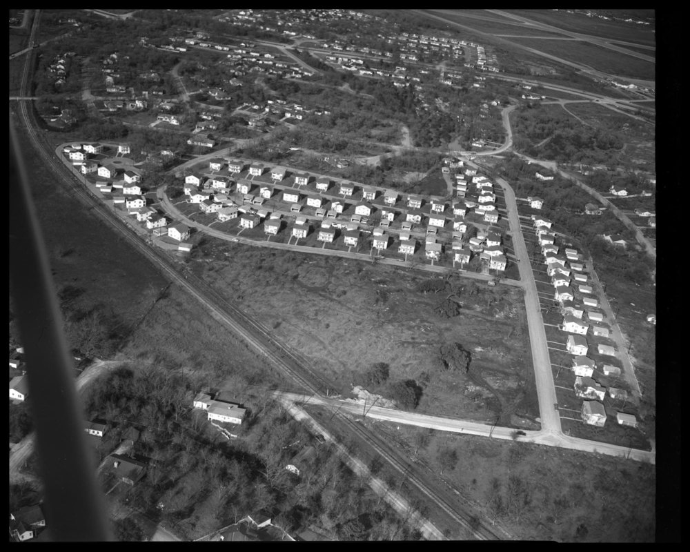 Aerial view of northeast Austin: Duplex Nation, 1949, credit Austin History Center