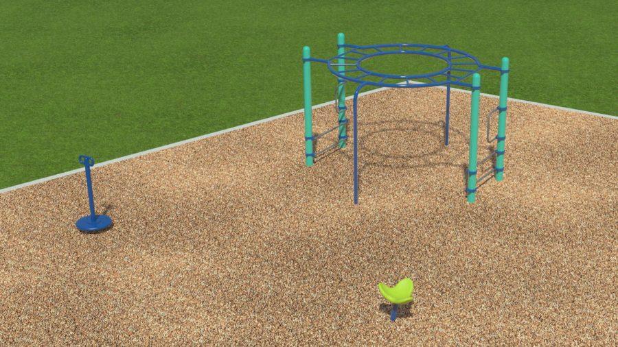 New playground equipment. Source: Whirlix