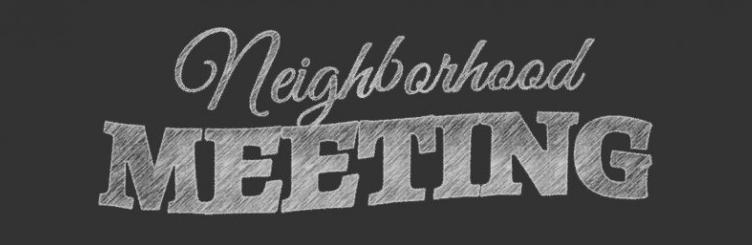 neighborhood meeting chalkboard
