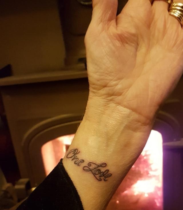 Elene Marsdens One Love Tattoo