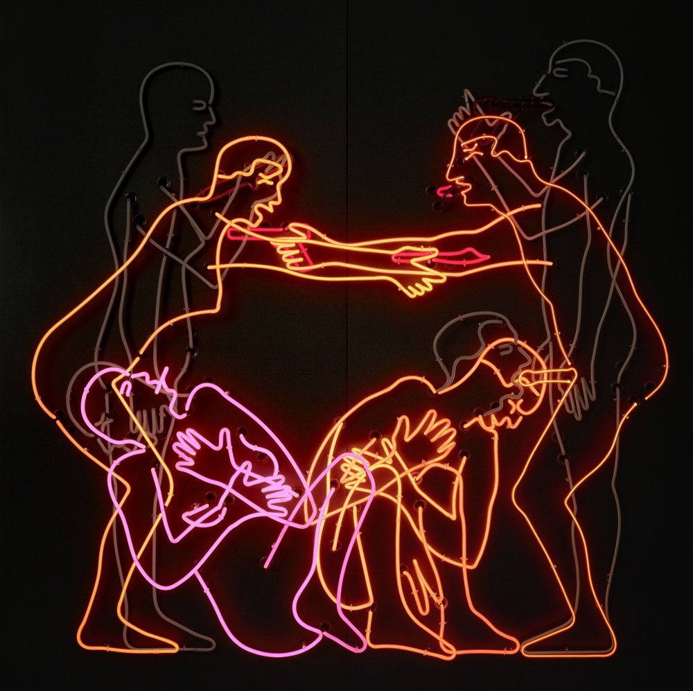 "Art by Bruce Nauman New Yorkers were treated to some truly excellent museum retrospectives this year, but perhaps the most necessarily creatively uplifting was the sprawling takeover of both MoMA and MoMA PS1 by iconic American mixed-media and performance artist Bruce Nauman. In an art world full of simplistic, one-dimensional, and ideologically sanitized political messages and hollow, thoughtless provocations, Nauman reminds us of art making as a practice inherently tied to self-discovery. The exhibition's title, Disappearing Acts, is in reference to Nauman's ""withdrawal as an art form."" He fragments bodies (his own and others), spaces are suspiciously empty but haunted by the artist's presence, and the artist ""sculpts himself in absentia"" (Nauman's fascination in negative space was inspired by a Willem de Kooning quote about painting the space within objects).  Nauman's work has often been thought of as being boring (critic Hilton Kramer wrote it off as such in 1973). And certainly with the repetitiousness of movements in his performance videos that sometimes go on for 60 minutes at a time it is at times hard not agree with that sentiment. But one must always consider Nauman's oeuvre in relation to himself. It may be trying to watch him endure monotonous movements in his early videos, but the artist is clearly trying to gain some kind of new awareness for himself. In some ways, he is a very selfish artist, and I mean that positively. This selfishness has led Nauman to being notoriously averse to being pinned down. The exhibition looks at Nauman's grotesque disembodied figurative illustrations, his large-scale sculptures, video, performance, and even speculative architecture. A blurb about this show feels a bit faux and wrong-headed so let me just say: you don't have to like every piece the artist produces, it's not the point. And indeed as much as I love Nauman's illustrations and pornographic and literary neon installations, I don't have the patience for a 3D film that finds him limping across a floor back and forth. But Nauman's work is supremely thrilling to an artist simply because his philosophy dictates that everything he produces in-studio is an art work. It's hard to overstate the freedom that belief imbues in other artists, and partly explains Nauman's vast influence."