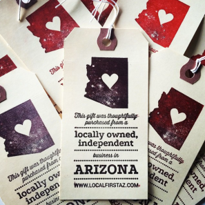 Buy Local Month Holiday Gift Tags