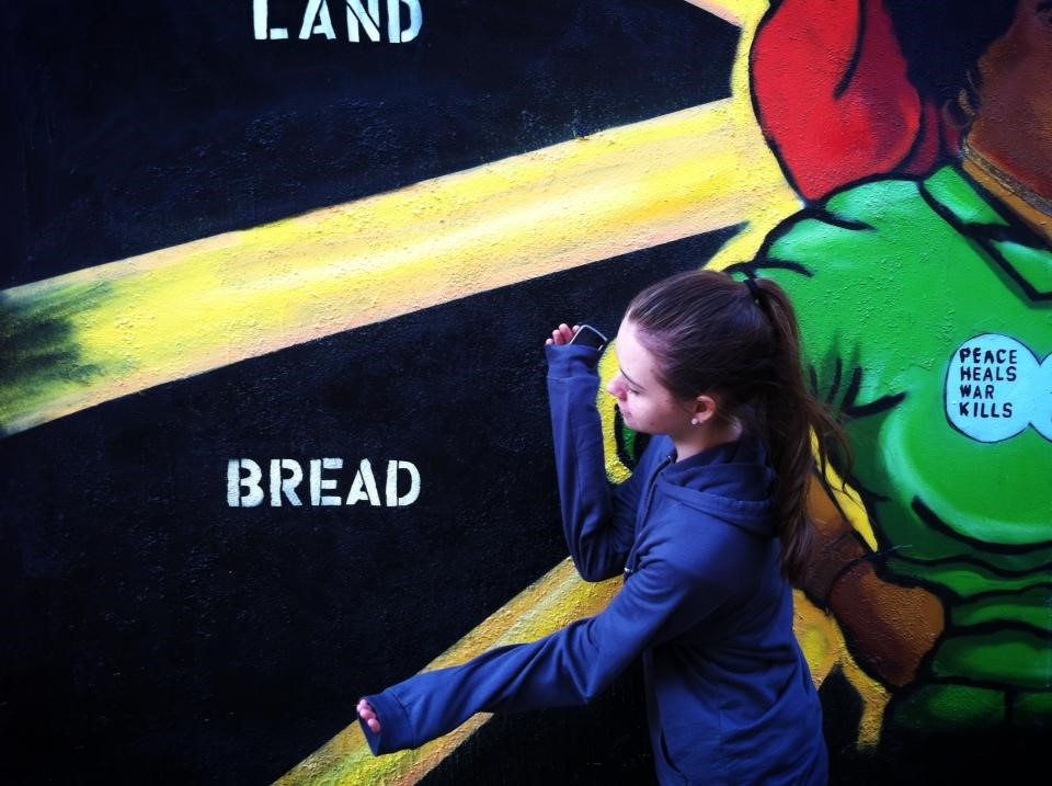 Honoring the bread mural in San Francisco.