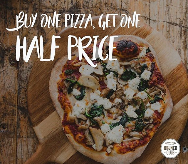 Buy One Pizza, Get One HALF PRICE! 🍕  This 'After Hours' offer on our Stone Baked Pizzas is available every Tuesday-Saturday evening.  Available to sit in or take away!  Call us on 01482 661339 to book a table or make an order.