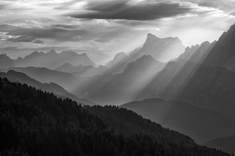 The Dolomites - sunrise over the Cima Pape, Italy 2016