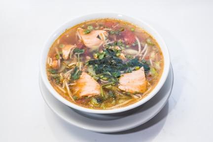 Tamaring Soup with (Salmon/Shrimp/Fried Tofu) - (Menu Item 38)