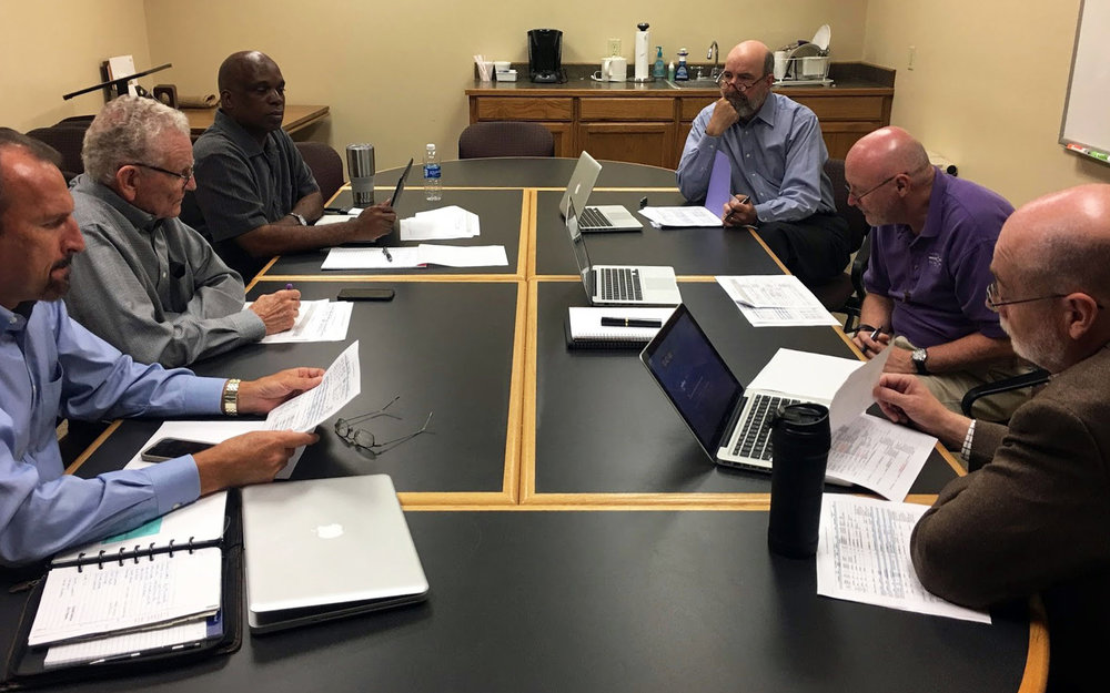Left to right: Robert Oglesby, Royce Money, Curtis King, Carson Reed, Randy Harris, Tim Sensing.