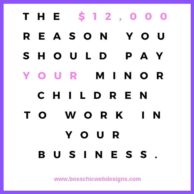 Here's another reason to purchase that domain and have me get that website up and running!Thanks to the Tax Cuts and Jobs Act (TCJA) many entrepreneurs can hire their minor kiddos and deduct up to $12,000 yearly in tax deductions! Oh, and in many cases, the kid doesn't have to pay taxes on the income either! Ask your tax professional for details!  #femaleentrepreneur #femaleentrepreneurs #femalebusinessowner #smallbusinesstips #smallbusiness #womanceo #webdesign #webdesigner #entrepreneur #blackownedbusiness #blackbusinesswoman #blackbusinessowner #blackenterprise #entrepreneurlife #entrepreneurquotes #entrepreneurmindset #entrepreneurship #girlboss #bossbabe #femalebusinesses #femininewebsites #blackexcellence #blackprofessionals #entrepreneurship  #entrepreneurlife #businesswoman #businessowner #entrepreneur #forbes