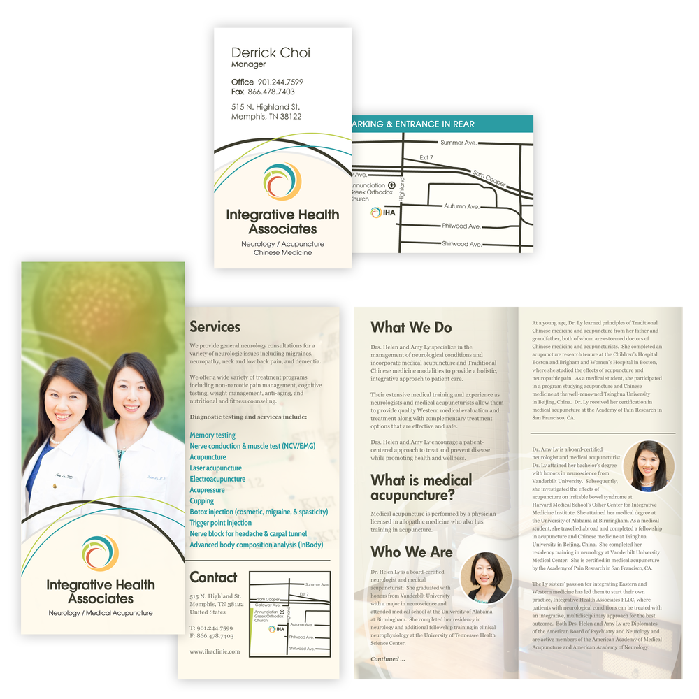 Integrative-Health-Associates_Brochure-Design_Business-Cards_Print-Design_Branding_Dreamcapture_Memphis-TN