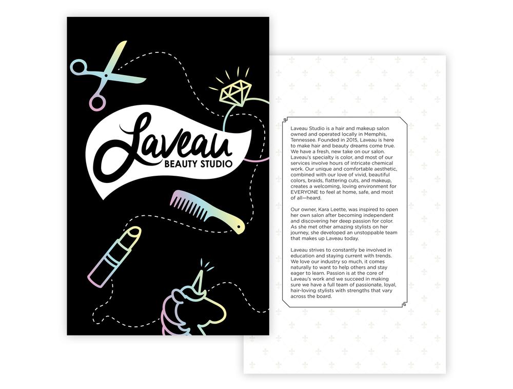Laveau-Beauty-Studio_Menu-Design_Print-Design_Dreamcapture_Memphis-TN