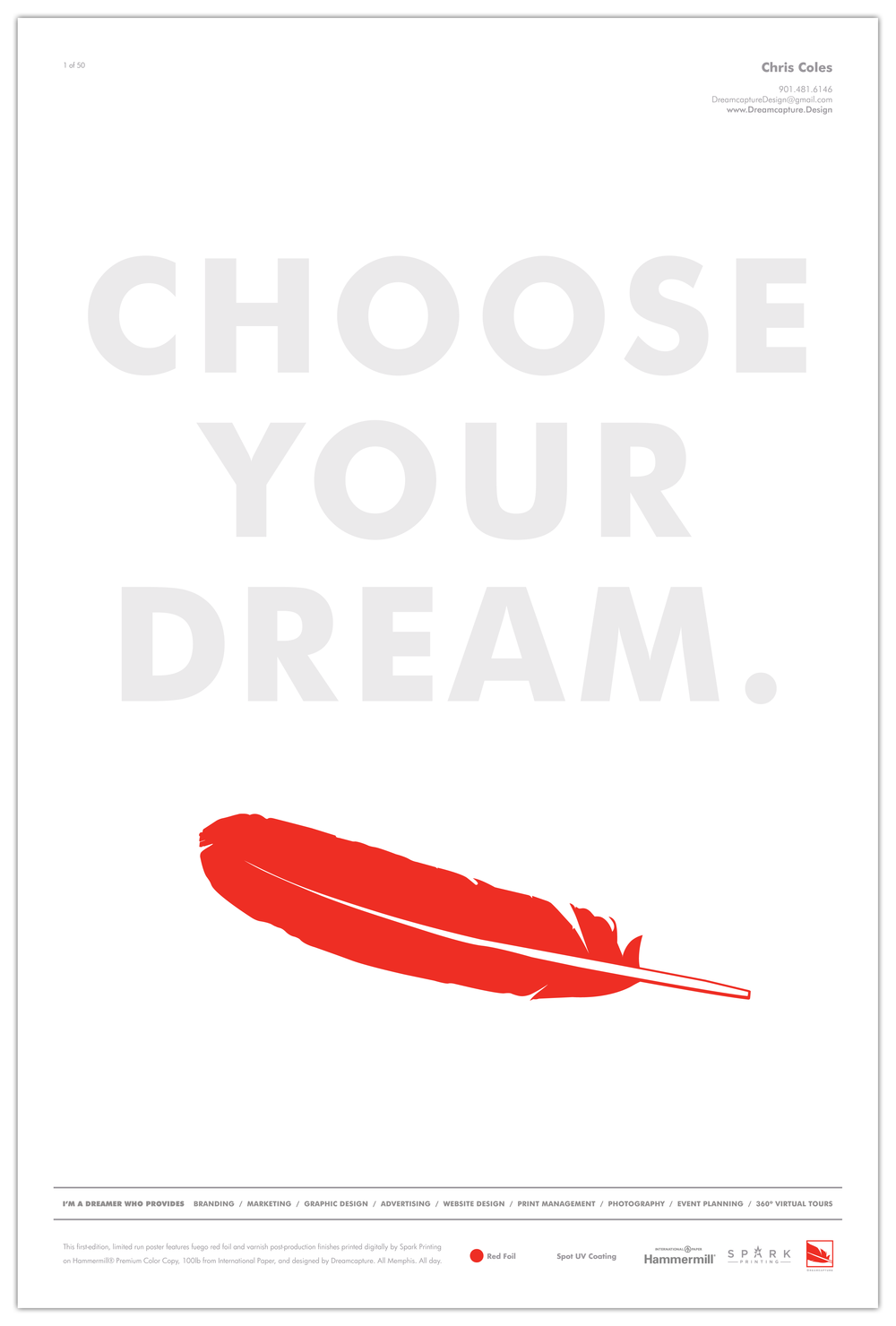 Spark-Printing_Choose-Your-Dream-Poster_Print-Design_Campaign_Dreamcapture_Memphis-TN