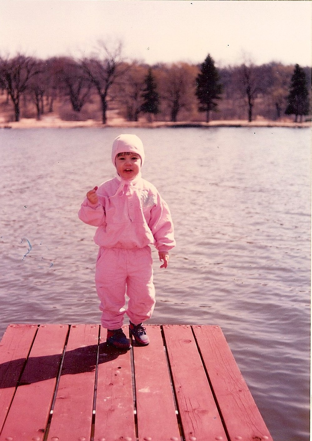 Following JoJo . . . . age 2 . . .  pink earhart