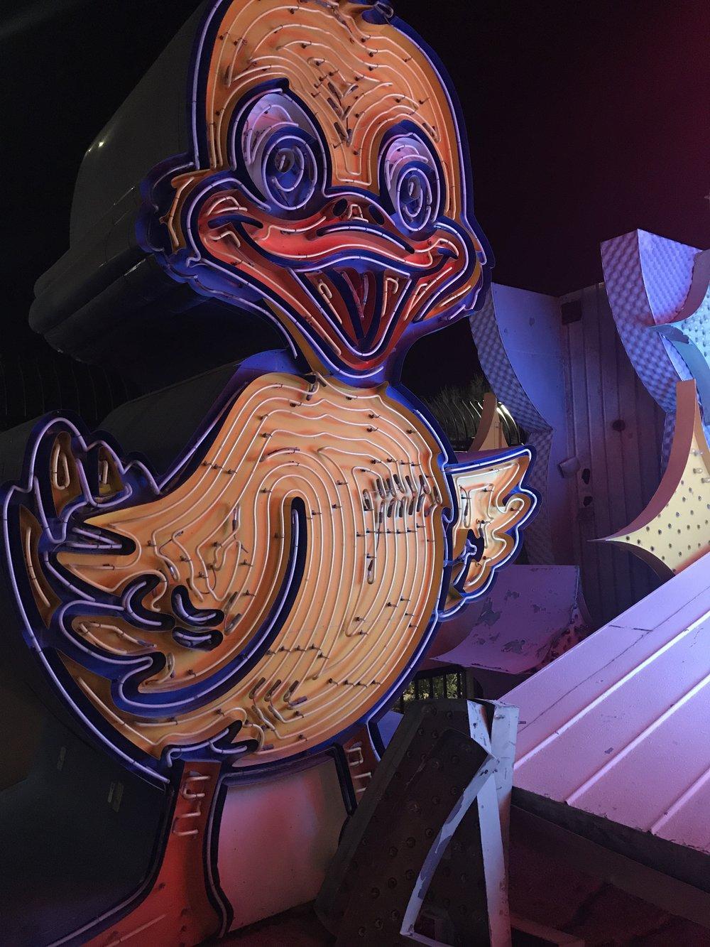 neon museum duck las vegas ghost town