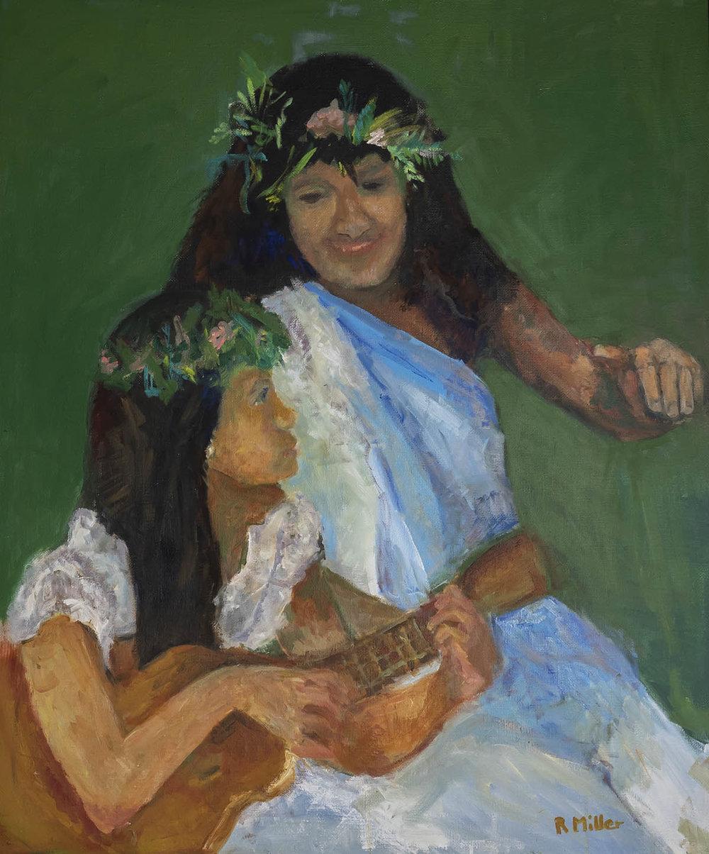 Hawaiian Girl with Ukelele
