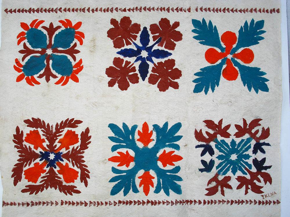Hawaiian Quilt Tapa x6