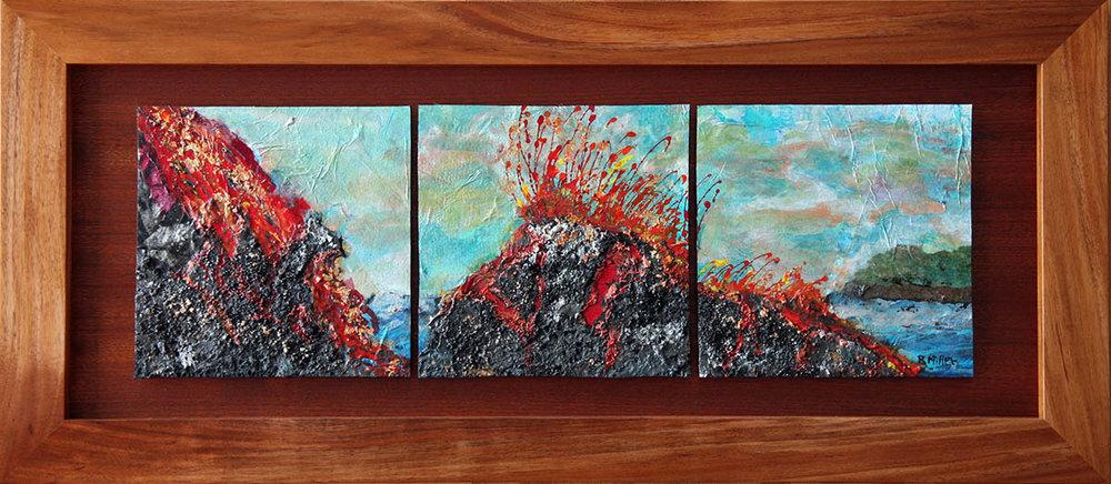 Firey Volcano Triptic