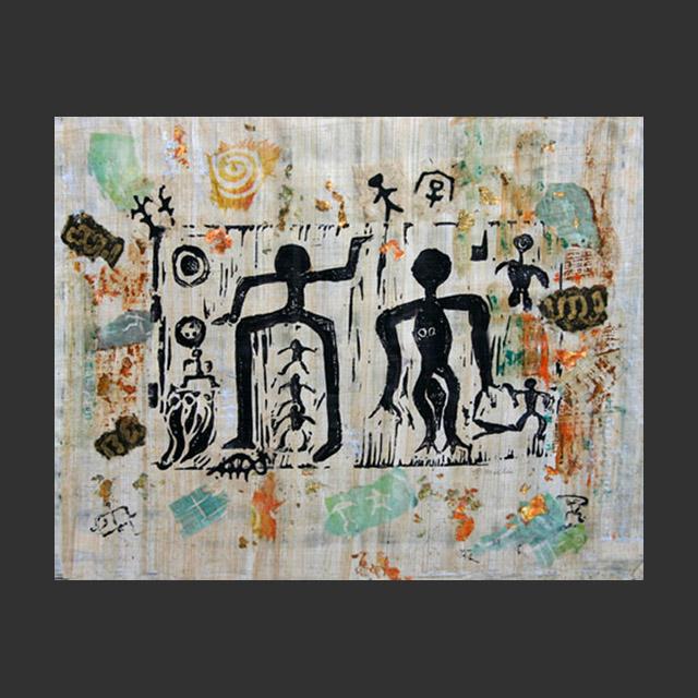 Hawaiian Family Petroglyph Collage