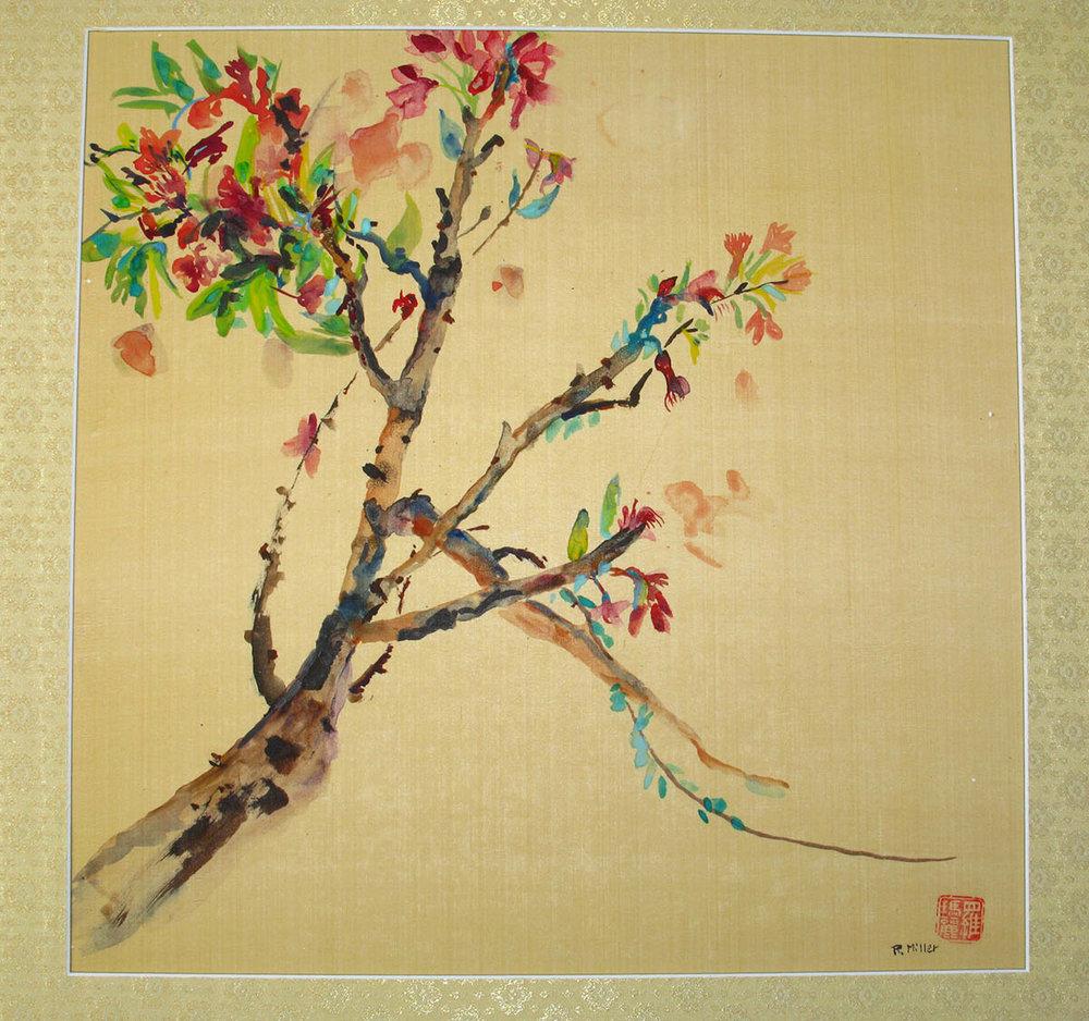 Cherry Blossom on Silk