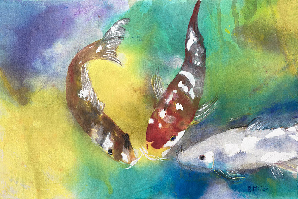 Three Koi Friends