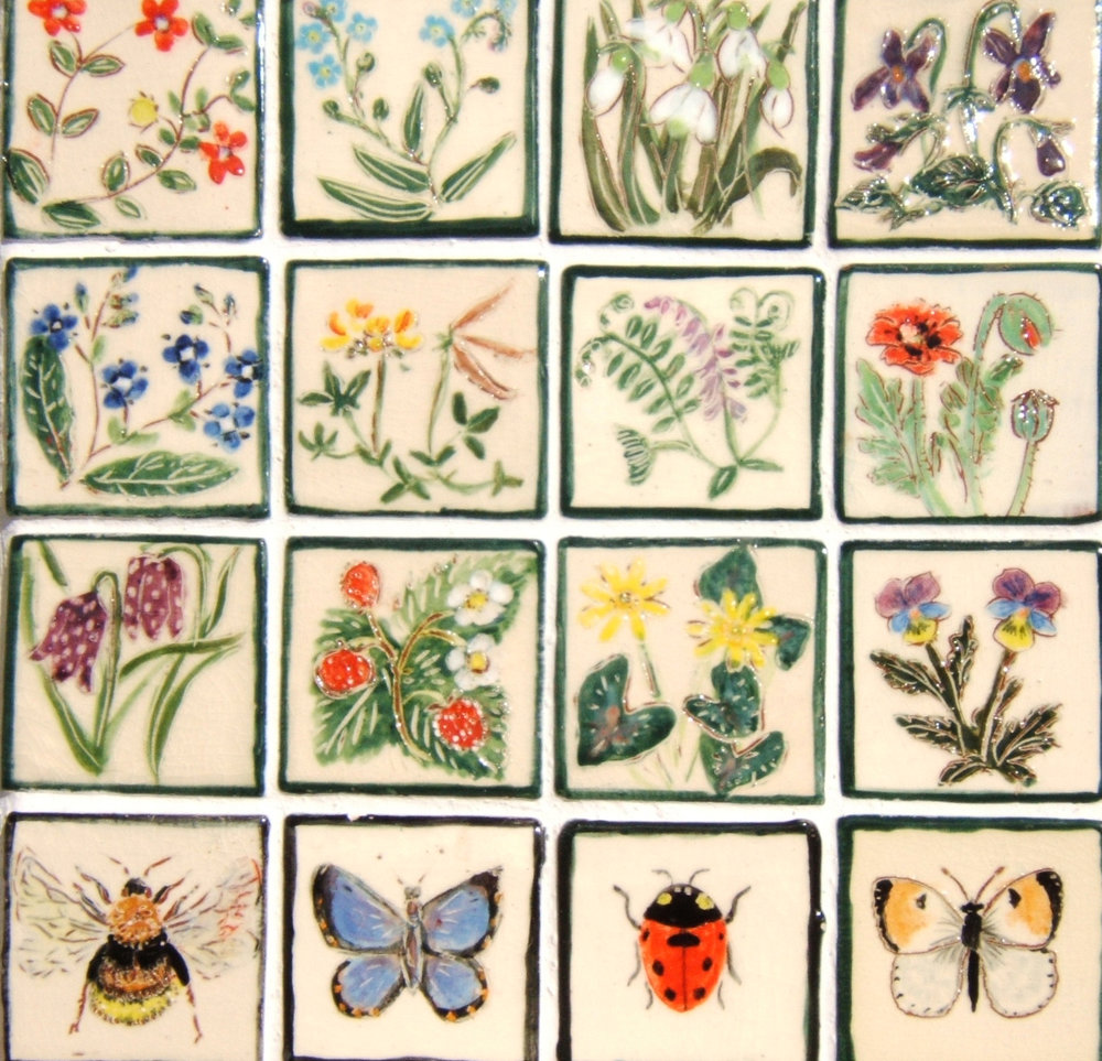 Our range of wildflowers and insects - On 2″ size but we also make them on a 4″ format. You can put in requests…