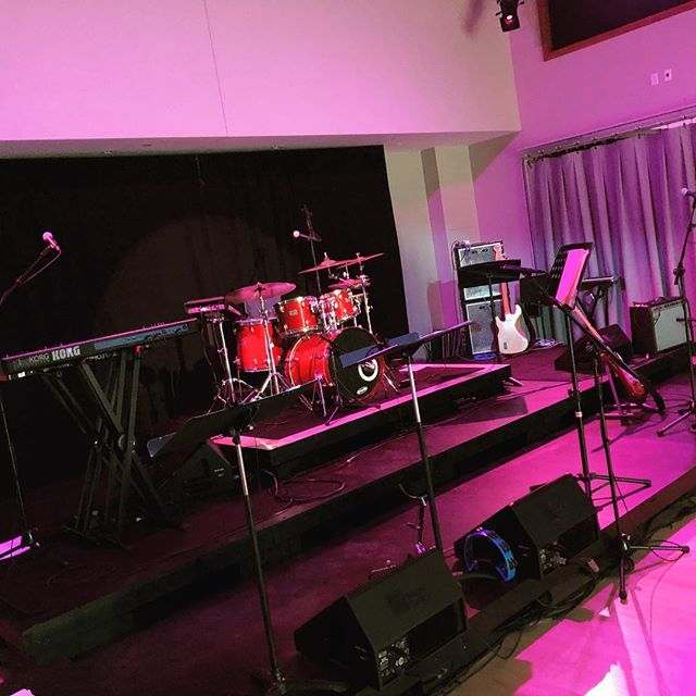 The stage is ready...are you? TRG hits @highlandcenterforthearts at 8:00pm tonight!