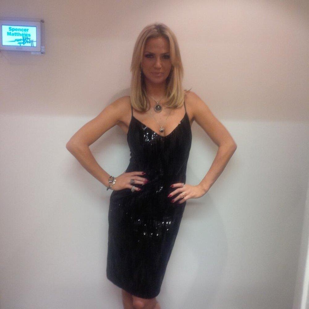 Sarah Harding wears Yanny on BBC3's
