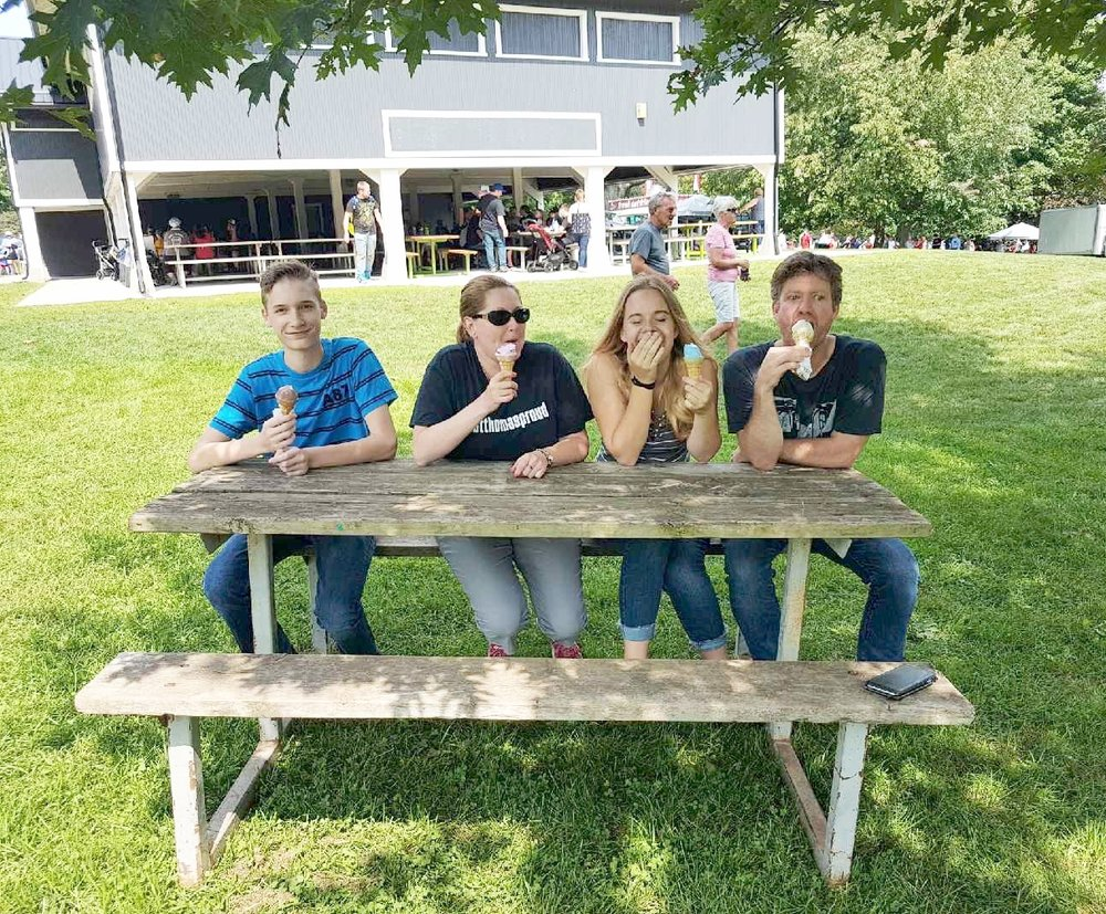 Recently, Alex, Jenn, and Andrew met long-time St. Thomas Mayor Heather Jackson for some ice cream in Pinafore Park.