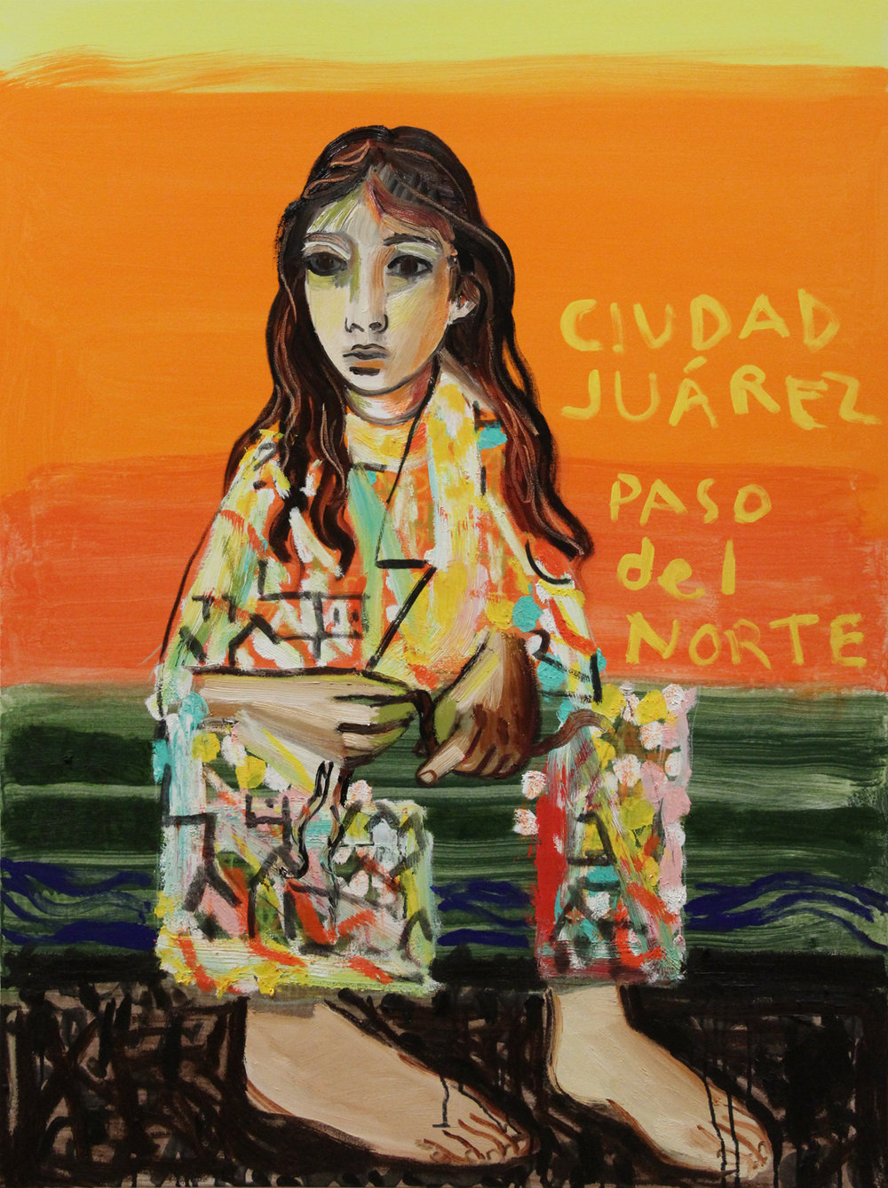 Girl from Juárez - Oil on Canvas, 2018 - 48x36 in.