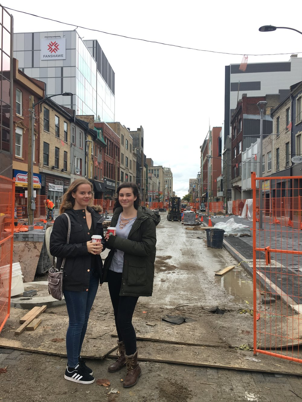 Jenn & Emily checked out the progress on Dundas Street recently in London. We love the move to create 'Dundas Place' in the downtown core!
