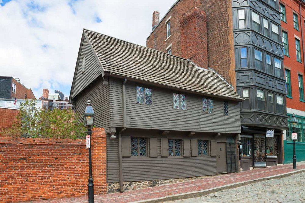 The Paul Revere House - Boston's oldest house, est. 1680