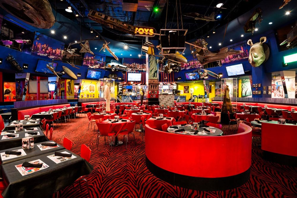 Planet Hollywood - For the memorabilia and Hollywood lovers out there.