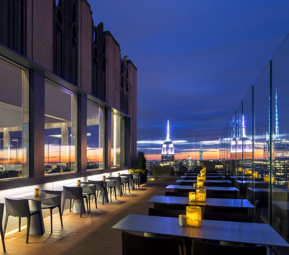 Bar 65 and Rainbow Room - Breathtaking views of the city with beer and food in hand.
