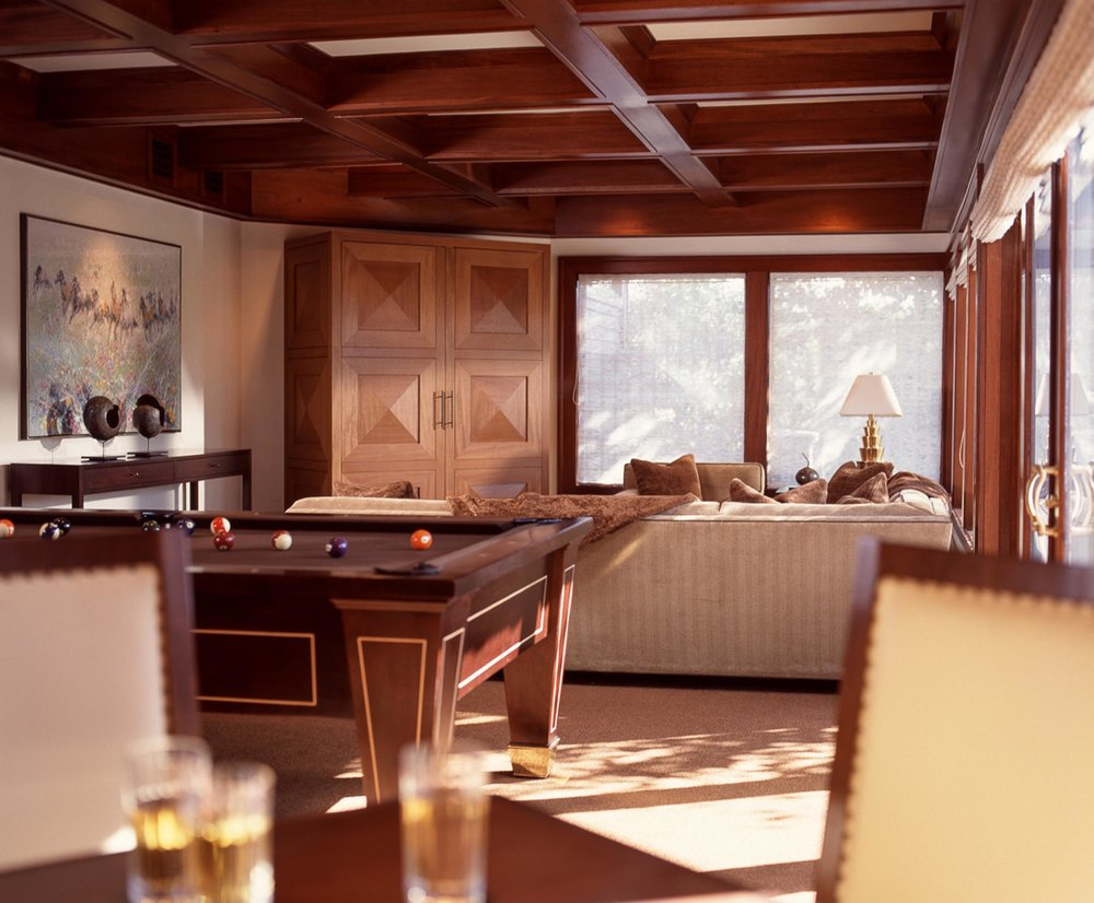 House interior with billiard table