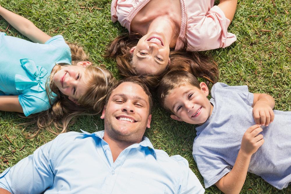 Family on ground