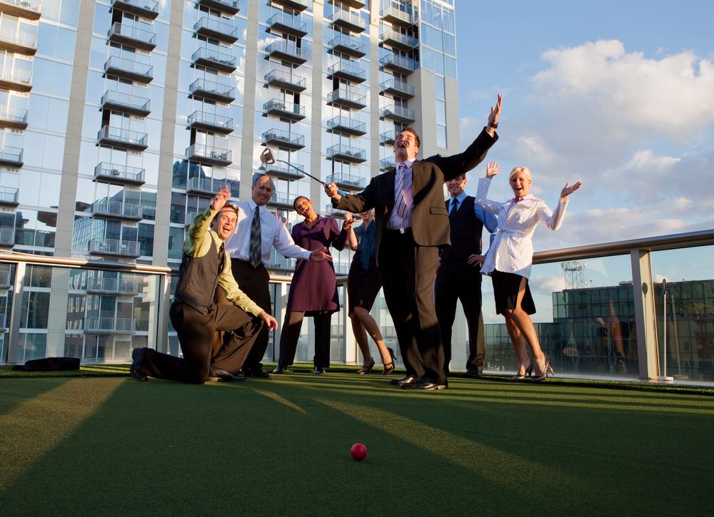 BDM golf on rooftop