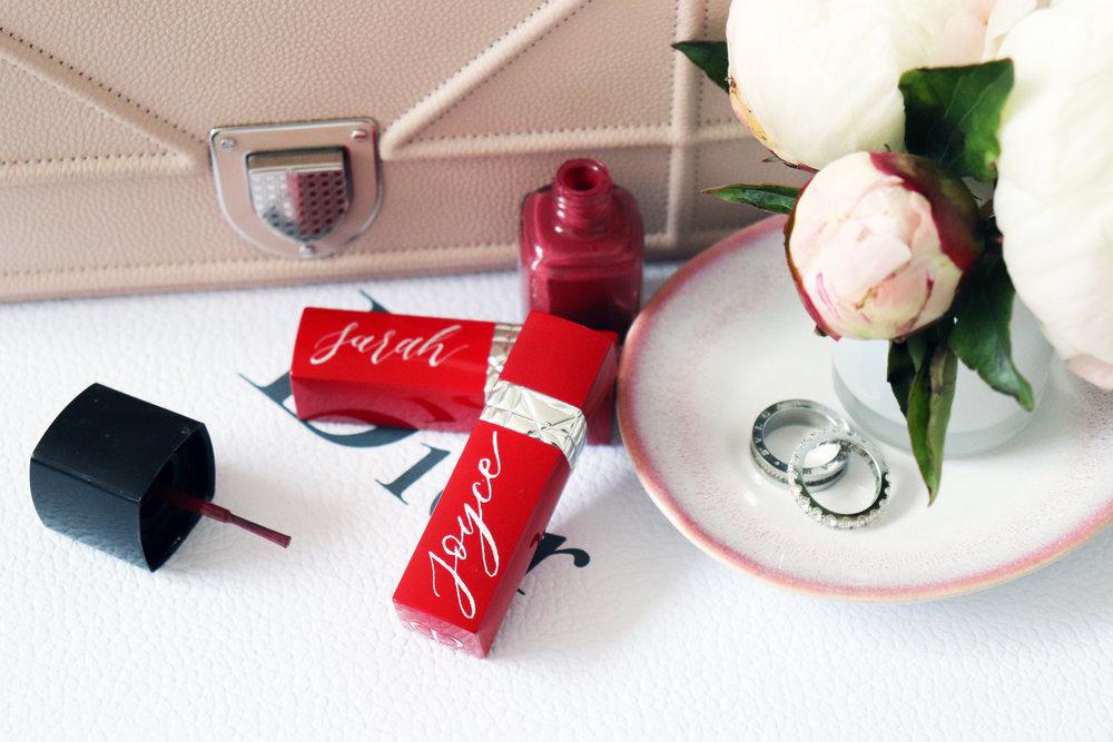 Dior: Personalised lipstick engraving