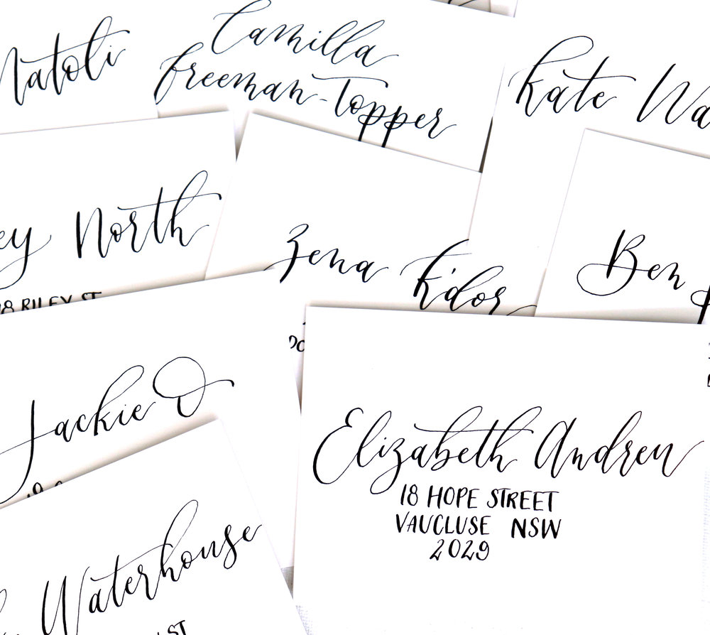 Harrolds: Personal address cards in modern calligraphy
