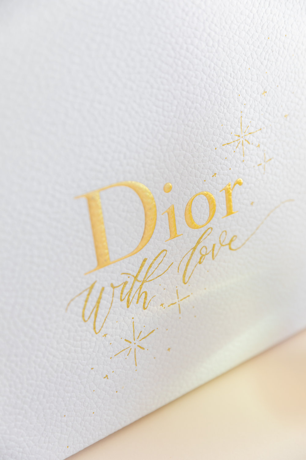 Hand painted calligraphy boxes for Dior Christmas event