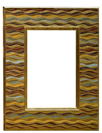 wave mirror 30x24