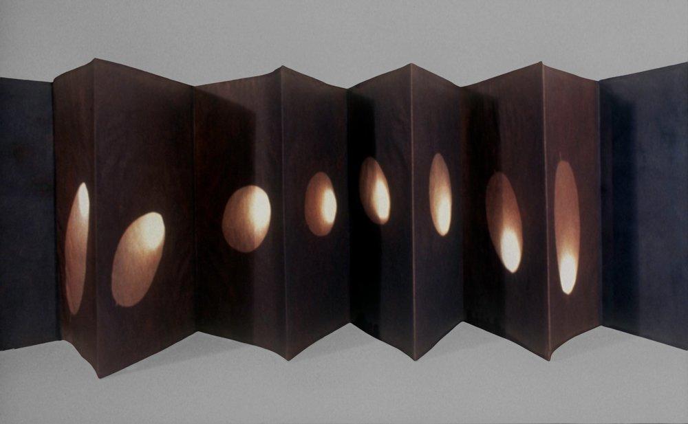 concertina vandyke silver-sun prints, August 1998